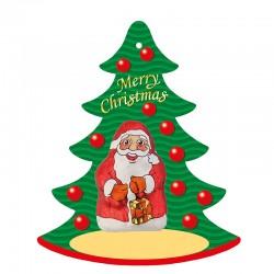 Chocolate Gift Tag Santa