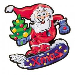 Chocolate Snowboard Santa