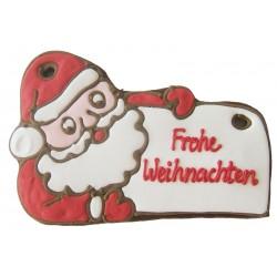 Weihnachtsmann mit Schild 21 cm
