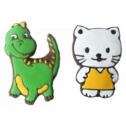 Lebkuchenmotiv, Drache und Katze