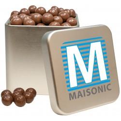 KubiTin printed, crispy chocolate balls