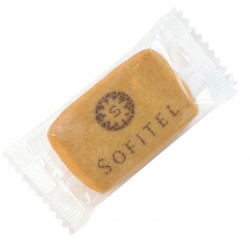 Logo-Biscuits, printed with liquid cocoa