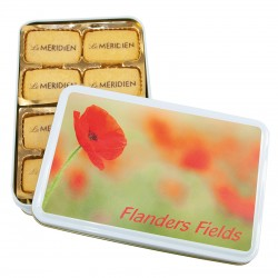 Logo-Biscuits, printed, in printed tin