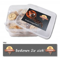 Logo-biscuits in round gift tin