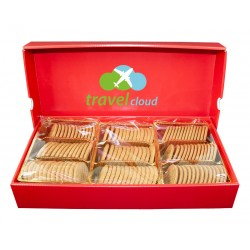 Bigbox, embossed biscuits