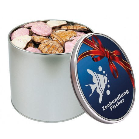 Round tin with Gingerbread