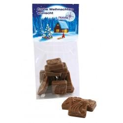 Weihnachtsschokolade mit Reiter