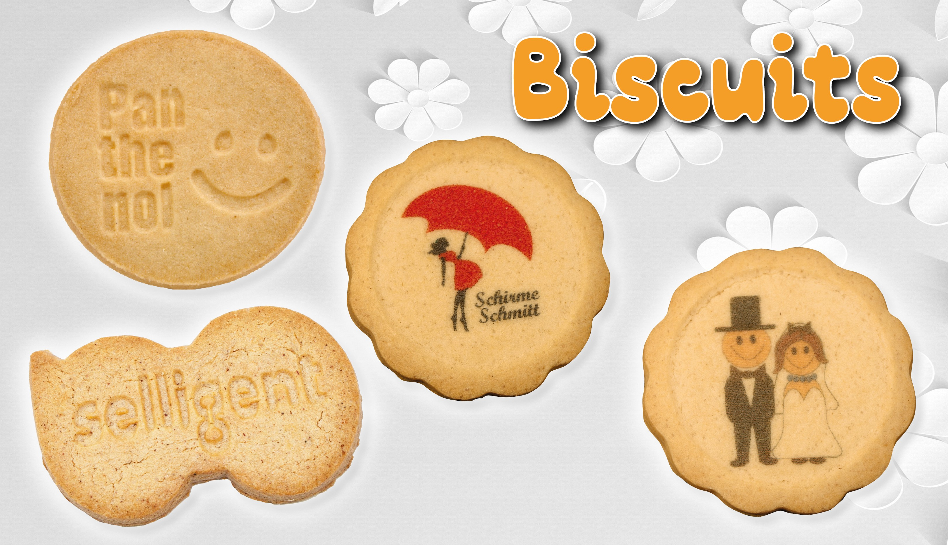 Biscuits - embossed, printed or individuall shape